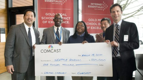 Comcast Donates $100,000 to Seattle Goodwill to fund Innovative Computer Literacy Program
