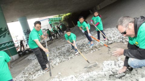 Asian Counseling & Referral Service's Clients Enjoy Benefits of Comcast Cares Day