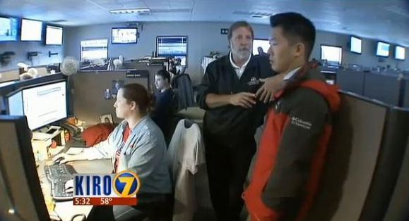 Click on the screenshot to see KIRO TV's story and video about our monitoring center (and what our colleagues at Seattle City Light do before storms as well!)