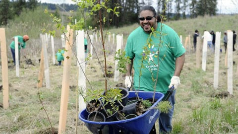 More than 3,000 Comcast employees, family members and friends will donate time at 30 places throughout Washington State for Comcast Cares Day 2017
