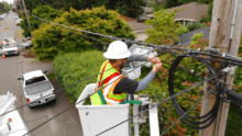 Comcast at work in North Seattle