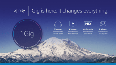 Comcast launches Gigabit internet across Washington state