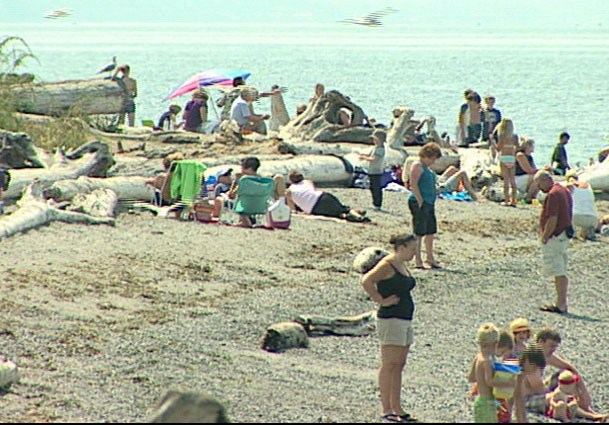 Beach scene in Mukilteo