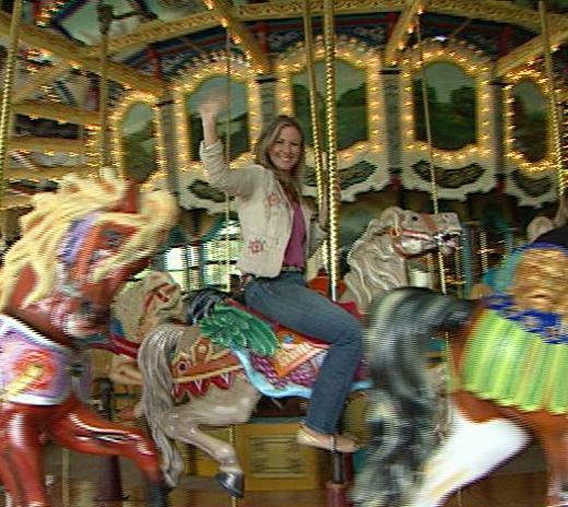 Host Sabrina Register on merry-go-round