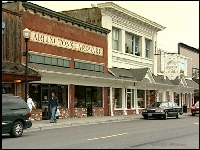 street scene of Arlington WA for Comcast Neighborhoods