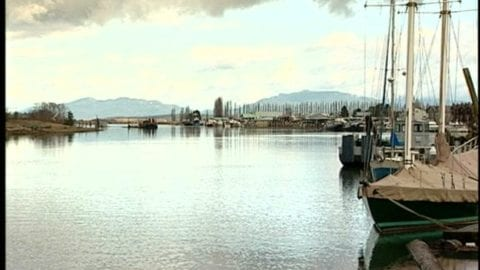 Waterfront scene in La Conner, Washington