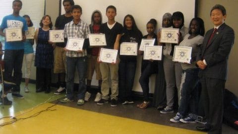 students from Digital Connectors program