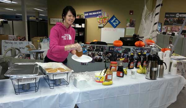 pancake breakfast to raise money for united way