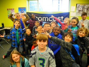 children at Lacey tech clubhouse