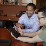 Comcast VP of New Business Dennis Mathew and Chris Pirillo