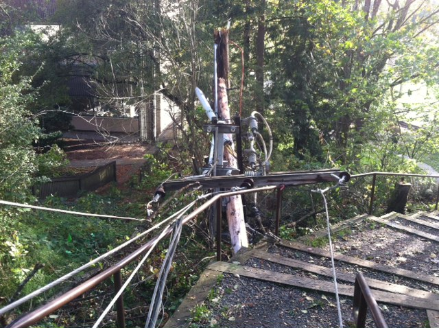 power pole damage on mercer island