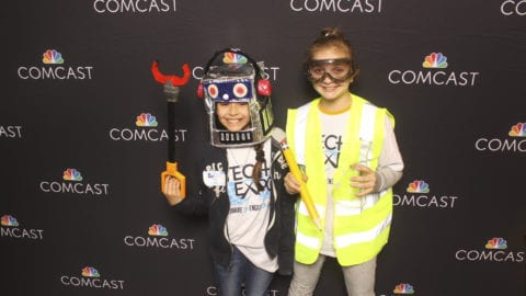kids at photo booth