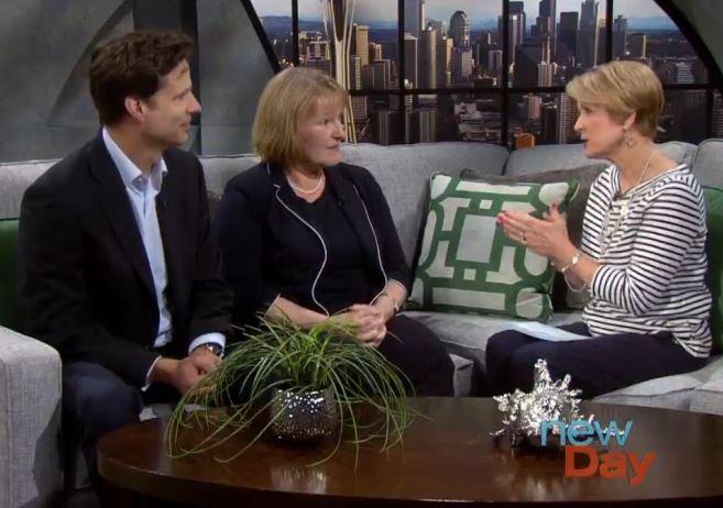 screenshot of the three speakers on the tv segment