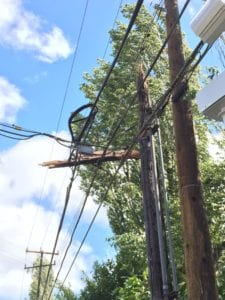 storm damage to a line