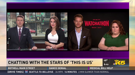 """""""This Is Us"""" Stars Discuss Watchathon, Bingewatching and Their Show on Seattle TV News"""