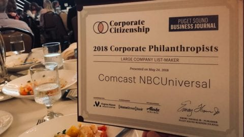 Comcast Ranks 14th on the Puget Sound Business Journal's Corporate Philanthropy List