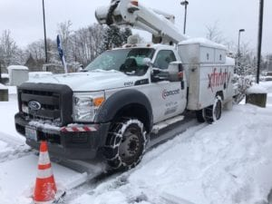 comcast truck in snow