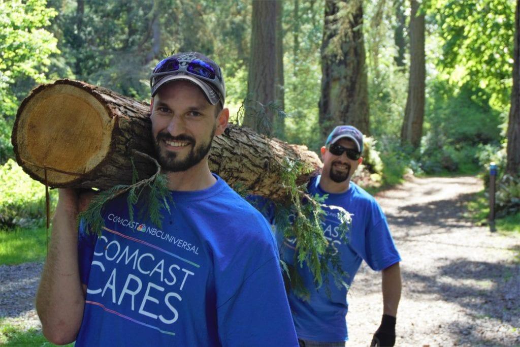 Comcast Cares Day Tacoma Wash. 2019
