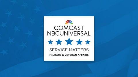 The Comcast NBCUniversal Service Matters logo.