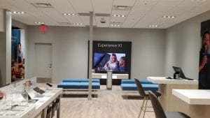 Interior of an Xfinity retail store.